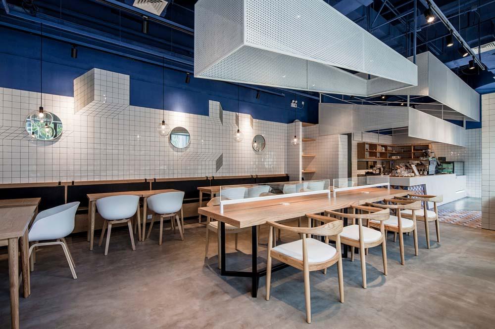 [咖啡店] 上海地中海风格的paras咖啡厅_合抱木工装