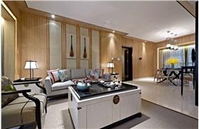 [新中式]  深圳寶安中洲中央公園11-B01戶型樣板房設計