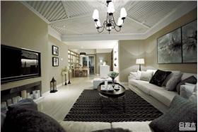 星湖奧園126㎡大戶型兩居室裝修 冷調混搭宜家風17W