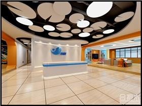 珠海心游科技辦公空間裝修 1000平米現代風格工裝