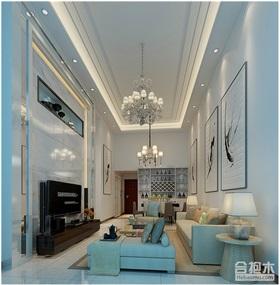 135平米現代風格復式住宅裝修 大戶型家裝案例