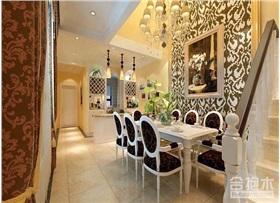 華南豪苑220㎡別墅裝修 歐式風格豪宅設計案例
