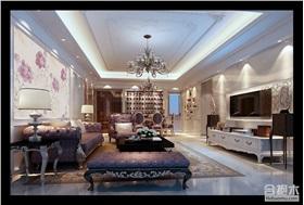 東海國際130平米兩居是裝修 新古典風格設計效果圖