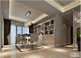 錦尚名苑135㎡四居室設計 現代風格住宅設計