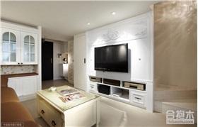 金沙半島90平米三房兩廳裝修 簡約風格家裝設計案例