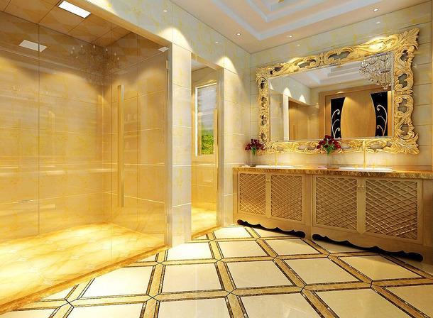 420m2别墅欧式风格浴室装修效果图,欧式风格浴室柜图片
