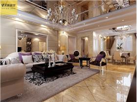 國企白領的新古典三居 粉鏡完勝客廳吊頂