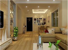 菱形鏡面裝飾增加客廳明亮度,87㎡二居只用4.5w