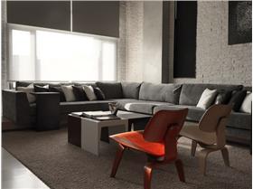 電視墻后小書房,風格強烈,黑白灰主打,極致的簡約小復式設計