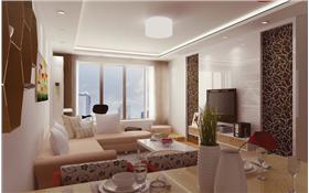 【觀瀾華庭】85平米簡約風格二居室裝修案例賞析