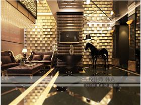 兩款地面你中意哪一張?3000㎡豪華新古典酒店設計,時尚馬賽克墻面奪人眼球