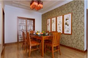 新中式風格*暖色系實木家具配搭溫馨浪漫紫紅色裝修設計