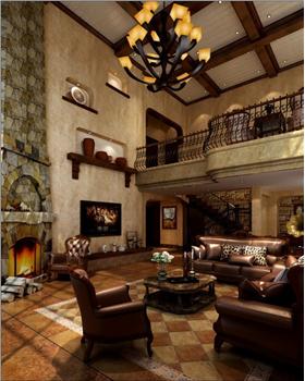 87万扩建旧别墅新改装,垒石墙壁原木顶,风味豪华居