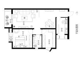 色彩簡潔、溫馨簡約歐式風格、【160平米三居室】