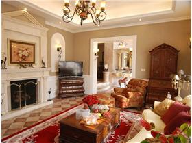 溫馨甜美風,打造300㎡歐式田園風奢華別墅