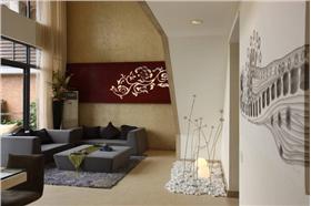 金屬蓮蓬裝飾讓樓梯告別單調,簡約復式精裝~手繪般意境悠遠卻簡單樸素的生活
