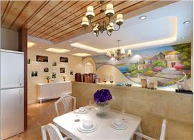 京鐵和園85平米二居室 溫情浪漫地中海風格~