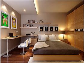 95㎡兩居室小戶型——現代簡約給你一個精致的小兩口婚房