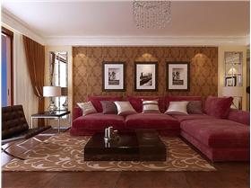 紅色如火~棕色如茶,4.5W精簡裝修137平大兩居,家——一個不用太擁擠的地方