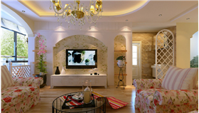 【趙公口小區】清新碎花裝飾浪漫田園二居室,甜蜜無比的裝修