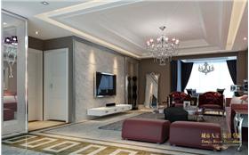 對比強烈的色彩,打造精致、優雅的140㎡三居室。