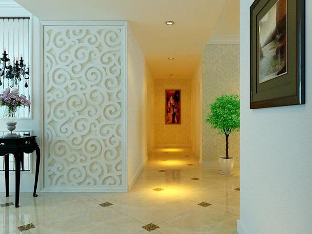 140﹐四居简约欧式风格客厅电视背景墙装修效果图-简约欧式风格电视柜
