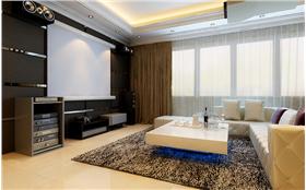稳重、简洁大气、温馨,强化每个空间的使用和特定气氛。