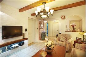 清晰舒適的田園裝修 130平田園風格三居室裝修案例賞析