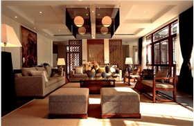 浓郁中式风&红木成就大气客厅,透视雅宅的细节之美!