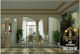 102w打造380㎡浪漫白色法式別墅,金漆吊頂,畫飾墻壁