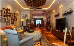 盛和世纪123平米美式风格装修案例 崇尚自由?从容舒适!
