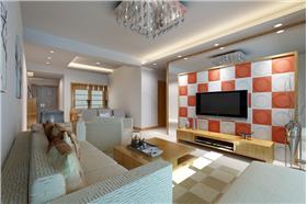 現代簡約設計,精致、個性馬賽克背景墻,打造家的感覺。