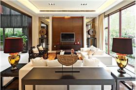 現代元素與傳統元素的完美結合,打造精致大戶型新中式裝修。