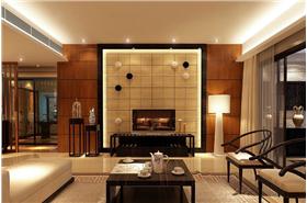 方正荷塘月色128平3居室装修,新中式设计图-实创装饰杭州子公司