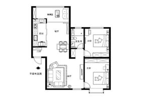 三口之家 沉稳色调彰显个性两居室 一个家的涵养表态~
