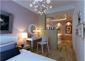 劉氏夫婦二人世界巧設計,餐廳靠墻連客廳,電視墻后開放式書房臥室相結合