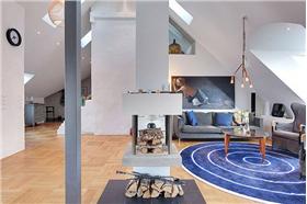 藍白交響曲,北歐風格屋頂公寓,就讓空間簡單起來吧~