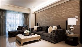 特色橫紋沙發墻*點點燈光——打造新古典風輕盈簡約時尚大宅~~