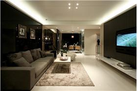 用現代風格的裝修展示大自然般舒適、溫馨、休閑的居住環境