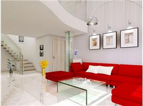 建邦華庭?80平米二居室簡約風格 紅色艷麗色系時尚風