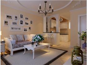 3.8萬打造47平米一居室田園風格 小居室大空間
