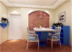 圓拱磚墻~條紋沙發~蓮花雙層吊燈,85平二居14W奢華打造,清新怡人
