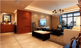 【御锦城】120平簡約中式三居室裝修案例赏析