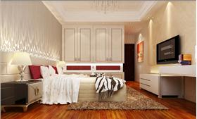 白色为主的空间和红色的点缀效果 显现出了客户家的优雅