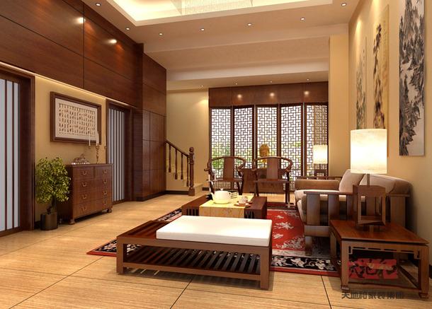 中式风格茶室装修效果图