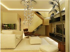 loft一居,生活&休閑合理分區,布藝沙發營造質樸溫馨
