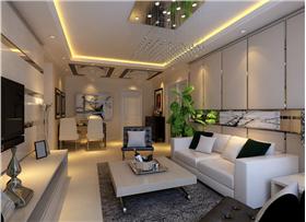 【國貿天琴灣】6.56萬打造89平米簡約風格二居室