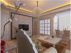 【威高花園】歐式田園風格 如奶茶般溫馨的客廳