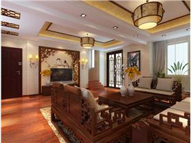 91平米三居室花10.8W打造中式新古典 值咯~~