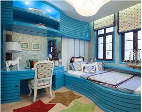在深海中潜游 巨有大海感觉卧室 震撼系地中海~